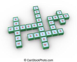 拼字游戏, 职业搜索