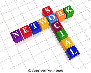 拼字游戏, 颜色, -, 网络, 社会