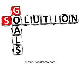 拼字游戏, 3d, 解决, 目标