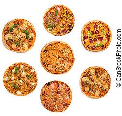 拼貼藝術, 不同, 種類, ......的, 比薩餅