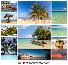 拼貼藝術, 假期, 海灘, 場景