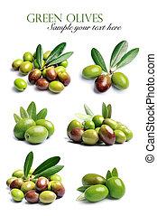 拼貼藝術, 甜, 橄欖, 水果