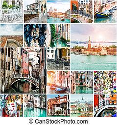 拼貼藝術, ......的, 相片, 從, 威尼斯