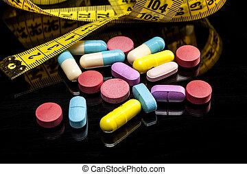 拿, 鮮艷, 藥丸