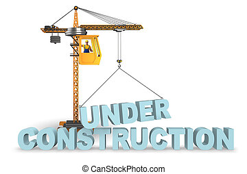 持ち上げられる, 建設, 手紙, クレーン, 下に