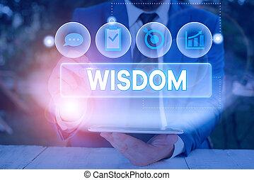 持つこと, 品質, wisdom., 単語, 知識, ビジネス, 判断, 執筆, テキスト, 経験, よい, 概念, something.