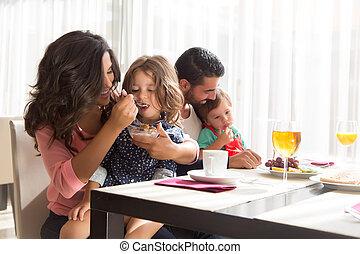 持つこと, 家族, 朝食