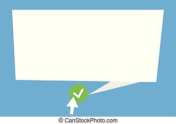 指すこと, アイロンかけ, デザイン, ブランク, レイアウト, esp, 隔離された, 尾, スピーチ, テンプレート, 泡, 空, 平ら, ビジネス 実例, カチカチいいなさい, ミニマリスト, グラフィック, ボタン, ベクトル, 緑, 広告, 矢, ラウンド