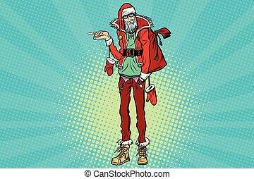 指すこと, サンタクロース, 情報通, 横に