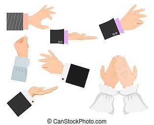 指すこと, 人々, イラスト, 腕, ジェスチャー, ベクトル, deafmute, 人間の術中, ビジネスマン, ジェスチャーで表現する