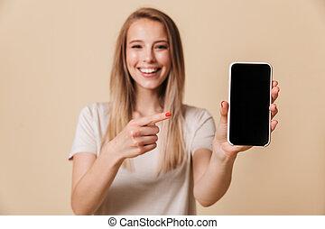 指を 指すこと, かなり, 肖像画, 女の子, 偶然