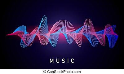 指定, オーディオ, wave., 録音, テクニカル, equalizer., 記録された, 音楽, 音, ベクトル, ミュージカル, 声, 要素, 変換器
