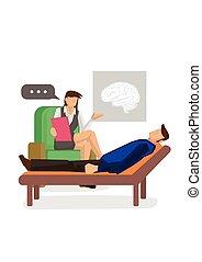 指揮する, 専門家, 心理学者, consultation.