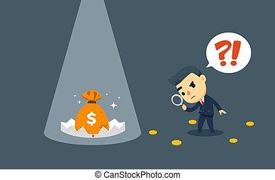 指揮する, 財政, 調査, ビジネスマン