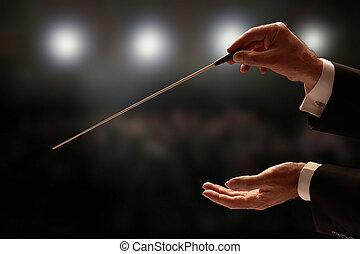 指揮者, 指揮する, オーケストラ