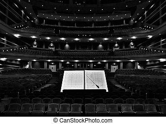指揮者, 立ちなさい, ホール, コンサート