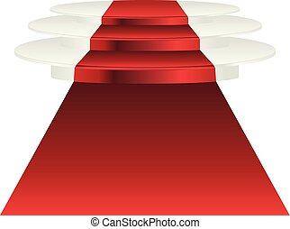 指揮臺, 紅的地毯