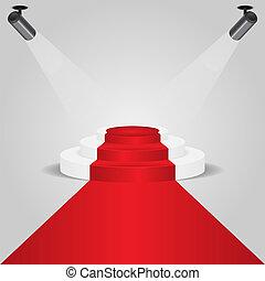 指揮臺, 聚光燈, 紅的地毯