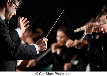 指示, 交響楽団, 指揮者
