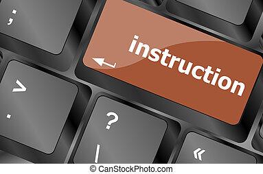 指示,  -, 向上, 鍵盤, 概念性, 關閉, 看法