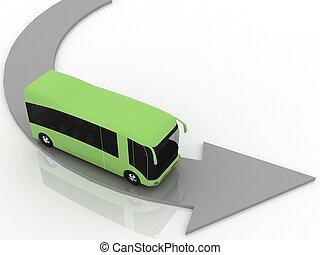 指針, ......的, 方向, ......的, 運動, ......的, 公共汽車