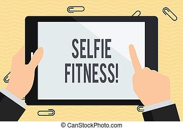 指, 照片, selfie, 商业, 牌子, 图画, 作品, 握住, 正文, 概念性, 体育馆, 本身, 色彩丰富,...
