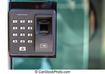 指, 走り読みしなさい, セキュリティー, ドアの キー, lock.
