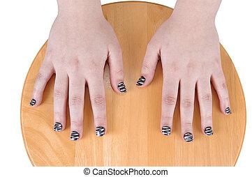 指, nails., 磨かれる