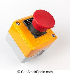 按鈕, 停止, 緊急事件