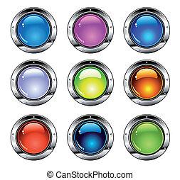 按鈕, 晴朗, 鮮艷