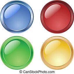 按鈕, 有光澤