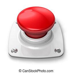 按鈕, 紅色, 警報