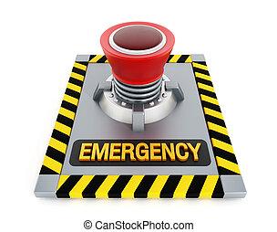按鈕, 緊急事件