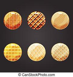 按鈕, 集合, 輪, 結構, 奶蛋烘餅