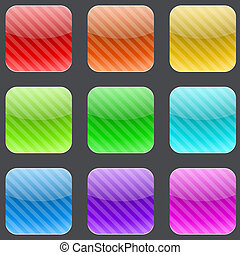 按鈕, 雜色, 有條紋, 廣場, 環繞