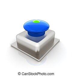 按鈕, 3d, 緊急事件, 圖象