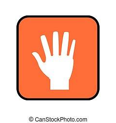 按钮, 广场, 敞开的手
