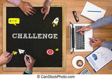 挑戦, ビジネスマン, 仕事