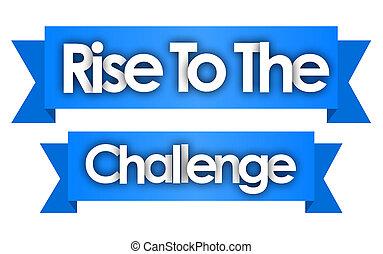 挑戦, リボン, 青い背景, 上昇