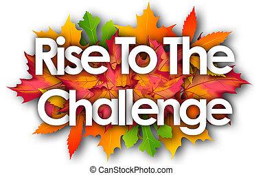 挑戦, 秋, 単語, 葉, 上昇, 背景