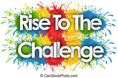 挑戦, splash?s, 上昇, 背景