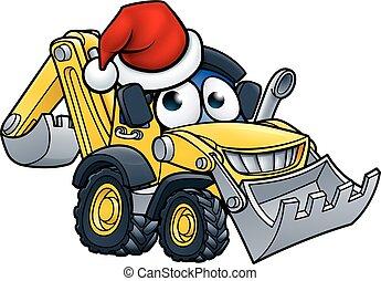 挖掘者, 推土机, 性格, 卡通漫画, 圣诞节