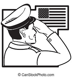 挨拶, アメリカの旗, 修理人