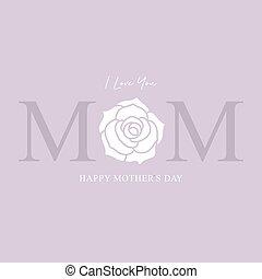 挨拶, イラスト, 幸せ, 母, ベクトル, 日, カード