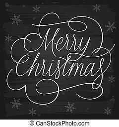 挨拶, スローガン, 黒板, メリークリスマス