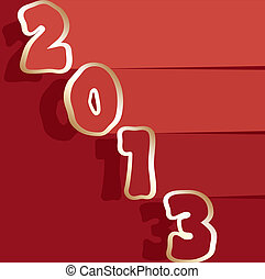 挨拶, ベクトル, 2013, 年, 新しい, カード