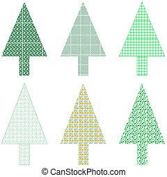 挨拶, 木, クリスマス, カード, クリスマス