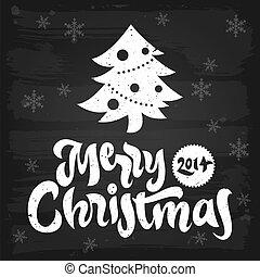 挨拶, 黒板, クリスマス