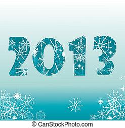 挨拶, 2013, 年, 新しい, カード, 幸せ