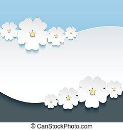 挨拶, sakura, 招待, 花, ∥あるいは∥, カード, 3d